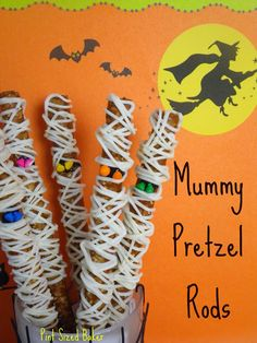 Darling Mummy Pretzels from @PintSizedBaker! So cute!