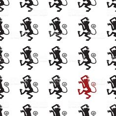 Dancing monkeys pattern royalty-free stock vector art