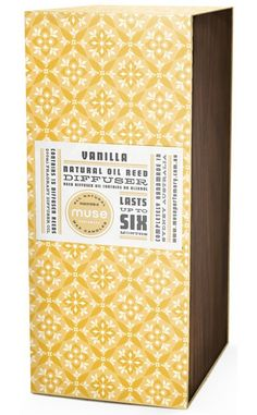 Retro Candle packaging. Pattern + Label