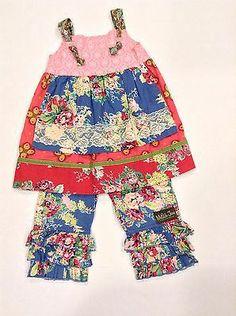 Matilda Jane Sparkle Town Pink Blue Gypsy Floral Knot Dress Easter