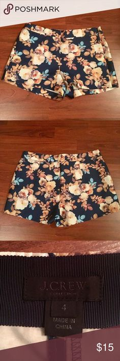 J. Crew Flowered Shorts- Like New These shorts are in like new condition and have only been worn a few times.  They are very comfortable and classy😄 J. Crew Shorts