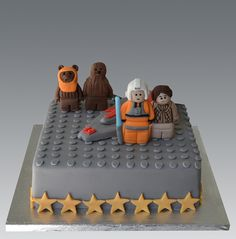 Lego Star Wars Cake by Gellyscakes - For all your cake decorating supplies, please visit craftcompany.co.uk