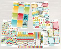 Pinning for later! These stickers are perfect. Available at Crafted By Corley on Etsy. Back to School Weekly Planner Kit - Weekly Sticker Set Planner Stickers Weekly Spread No White Space use with ERIN CONDREN Life Planner by CraftedByCorley