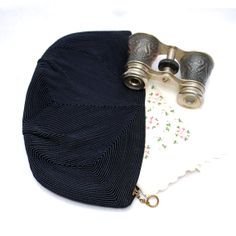 1950's Vintage Navy Blue Corded Clutch Evening by FondestMemories, $22.00