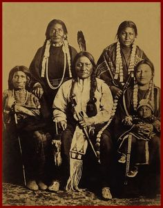 Sitting Bull and his family.