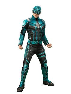 This Captain Marvel Yon Rogg Deluxe Adult Costume includes a padded jumpsuit with attached boot tops, fabric belt and fabric headpiece. Homemade Costumes, Diy Costumes, Adult Costumes, Couple Costumes, Homemade Halloween, Family Costumes, Group Costumes, Diy Halloween Costumes For Women, Halloween Men
