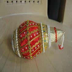 Kalash Decoration, Coconut Decoration, Wedding Gift Wrapping, Wedding Events, Weddings, Marriage Decoration, Indian Wedding Decorations, Wedding Crafts, Traditional Wedding