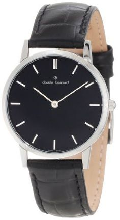 Claude Bernard Women's 20060 3 NIN Classic Ladies - Slim Line Black Dial Leather Watch claude bernard. $200.00. Black leather strap. Quartz movement. Black dial with silver indices. Mineral crystal. Water resistant up to 99 feet (30 m)