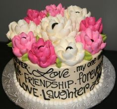 White Flower Cake Shop buttercream celebration cake. Bridal shower insperation.