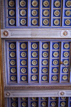 Colorful ceiling in the Palazzo Altemps in Rome