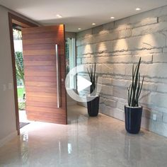 Modern Entrance Door, Home Entrance Decor, Entrance Design, Entrance Doors, Front Doors, Modern Wood Doors, Modern Front Door, Pivot Doors, House Entrance