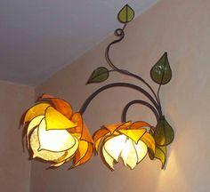 """Lampada da parete """"Fiori di Loto""""  _ wonderful lamp """"creatures"""" made by LampaDani :)"""