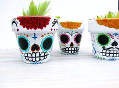 Sugar Skull Planter - Day of the Dead