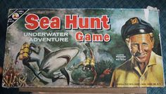 VINTAGE SEA HUNT BOARD GAME 1961 LOWELL RARE