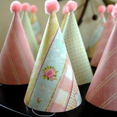 Transform dollar store party hats.  Tutorial