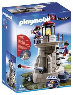 PLAYMOBIL 6680 - Soldatenturm mit Leuchtfeuer - Serie: PLAYMOBIL Piraten