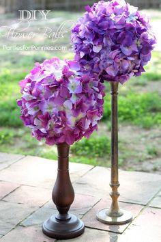 Wedding : DIY Flower Balls