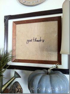 DIY Thanksgiving art