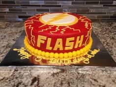 Flash cake I made. #theflash