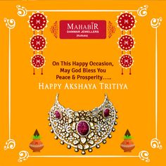 On this happy occasion may god bless you peace & prosperity with ‪#‎MahabirDanwarJeweller‬