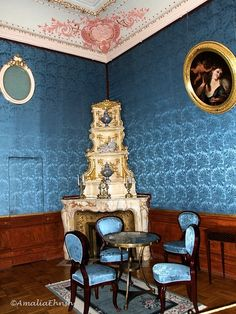Fireplace in the bedroom of Princess Zinaida Yusupova, Yusupov Palace, St. Fireplace Mirror, Home Fireplace, Romanov Palace, Royal Room, Palace Interior, Master Room, Le Palais, Imperial Russia, Beautiful Castles