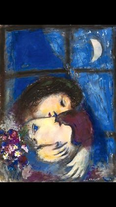Marc Chagall「In due alla finestra」