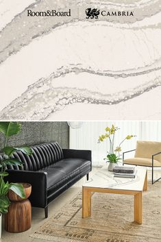 Room & Board expert wood craftsmanship combined with stunning Cambria Brittanicca makes for the perfect coffee table for any space. Cambria Quartz Countertops, Modern Furniture, Furniture Design, Design Palette, Living Spaces, Modern Design, House Design, Interiors, Solid Surface