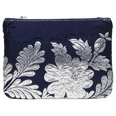 mini portatodo Bolso fallera @ con detalles florales, realizados en tela de seda y cuero. fallera bag with floral pattern. #bag #clutch #bolso http://fallera.com/es/bolsos/bc001022-detail
