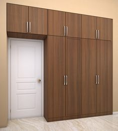 Edeline Four door hinged Wardrobe with loft designed in MDF