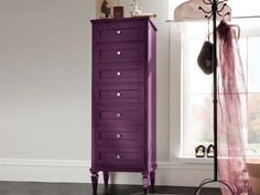 Tall wooden bathroom cabinet with drawers York Collection by Cerasa Bathroom Cabinet With Drawers, Wooden Bathroom Cabinets, Birdhouse In Your Soul, Home Board, All Things Purple, Bird Houses, My Dream Home, Armoire, Cool Stuff