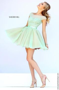 Sherri Hill Short Beaded Dress 11267