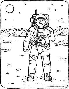 Resultado de imagen de astronautas para colorear