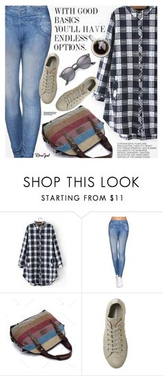 """""""Casual Style"""" by pokadoll ❤ liked on Polyvore featuring Hedi Slimane, Converse, Ray-Ban, polyvoreeditorial and polyvoreset"""