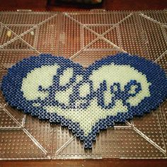 Love heart perler beads by marquiselerue