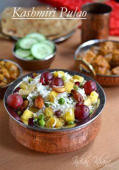 Kashmiri Pulao Recipe | Kashmiri Pulao ~ Indian Khana