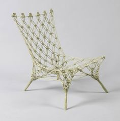Knotted Chair (KC 1), Designed by Marcel Wanders, Produced by Cappellini, Netherlands, Designed 1996, Gift of Cappellini, 2008-23-1 - See more at: http://www.cooperhewitt.org/object-of-the-day/2013/07/02/knotted-chair#sthash.Joczkb7H.dpuf