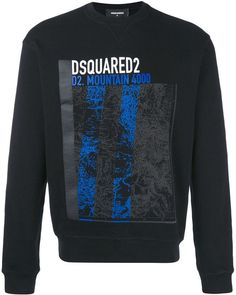 For sofa days, gym sessions and everyday style. Shop designer sweatshirts for men at Farfetch for this everyday staple. Printed Sweatshirts, Dsquared2, Graphic Sweatshirt, Mens Fashion, Tees, Sweaters, Cotton, Mountain, Clothes