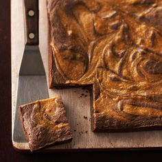 A swirl of decadent caramel takes these moist brownies to over-the-top decadence. More blissful brownie recipes: http://www.bhg.com/videos/m/67447194/how-to-make-brownies.htm