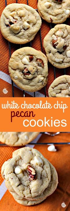 White Chocolate Chip Pecan Cookies | by Renee's Kitchen Adventures - Yummy buttery drop cookies that need to be in your cookie jar today!