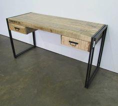 industrieel bureau - is044 - industriële steigerhouten meubels - vintage meubels en industriële. - Teak Paleis