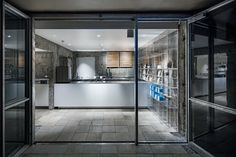 Image 12 of 15 from gallery of Blue Bottle Coffee Sangenjaya Cafe / Schemata Architects. Photograph by Kenta Hasegawa Design Your Home, House Design, Cafe Pictures, Blue Cafe, Blue Bottle Coffee, Cool Cafe, Minimalist Interior, Blue Walls, Contemporary Interior