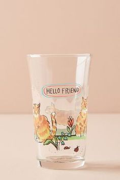 Molly Hatch Menagerie Juice Glass by in Assorted, Glassware at Anthropologie Molly Hatch, Monogram Painting, Painted Monogram, Modern Architecture Design, Interior Design Software, Jelly Jars, Juice Plus, Ceramic Spoons, Kitchen Collection