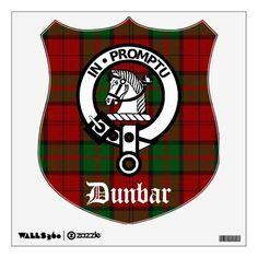 Clan Dunbar Crest & Tartan Wall Decal