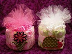 Mini Diaper Cakes #jmonetcreations