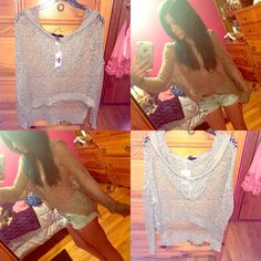 BOGO 5$ Knit Hoodie! NWT Brand new with tags never worn light olive tan color super cute with shorts or to throw over a bathing suit or summer nights! Size small Forever 21 Tops