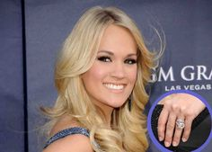 Carrie Underwood's engagement ring from hockey player Mike fisher features a yellow diamond. Mood Ring Color Meanings, Mood Ring Colors, Most Expensive Engagement Ring, Expensive Wedding Rings, Carrie Underwood Engagement Ring, Celebrity Engagement Rings, Dream Hair, Hair Pictures, Hair Looks
