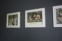 Where the Wild Things Are framed book art
