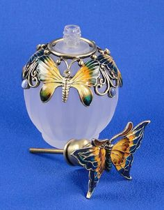 Butterfly Bejeweled Perfume Bottle