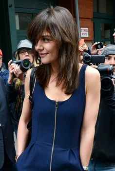 Katie Holmes' New Bangs Are So Sexy They Might Make You Blush a Little