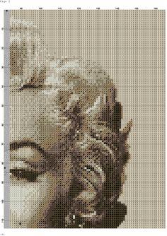 Marilyn Monroe x-stitch 3of 3